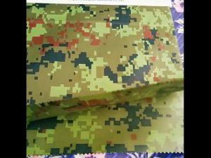 producător de chineză en-gros camuflaj embosate rainwear tesatura geotextile pentru țesături în aer liber